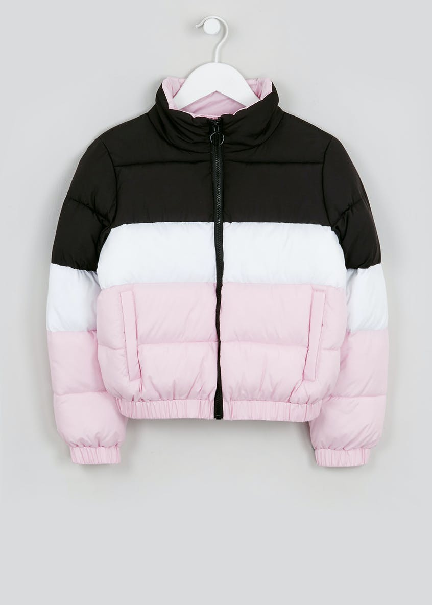 Girls Candy Couture Colour Block Padded Jacket (9-16yrs)
