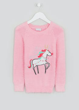Girls Christmas Unicorn Jumper (4-13yrs)