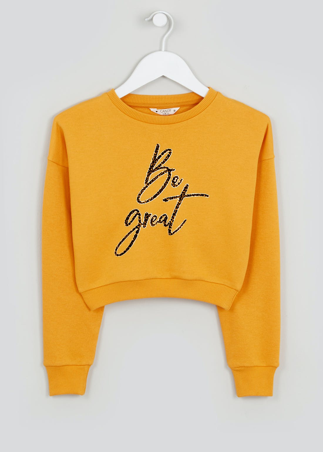 Girls Candy Couture Slogan Cropped Jumper (9-16yrs)