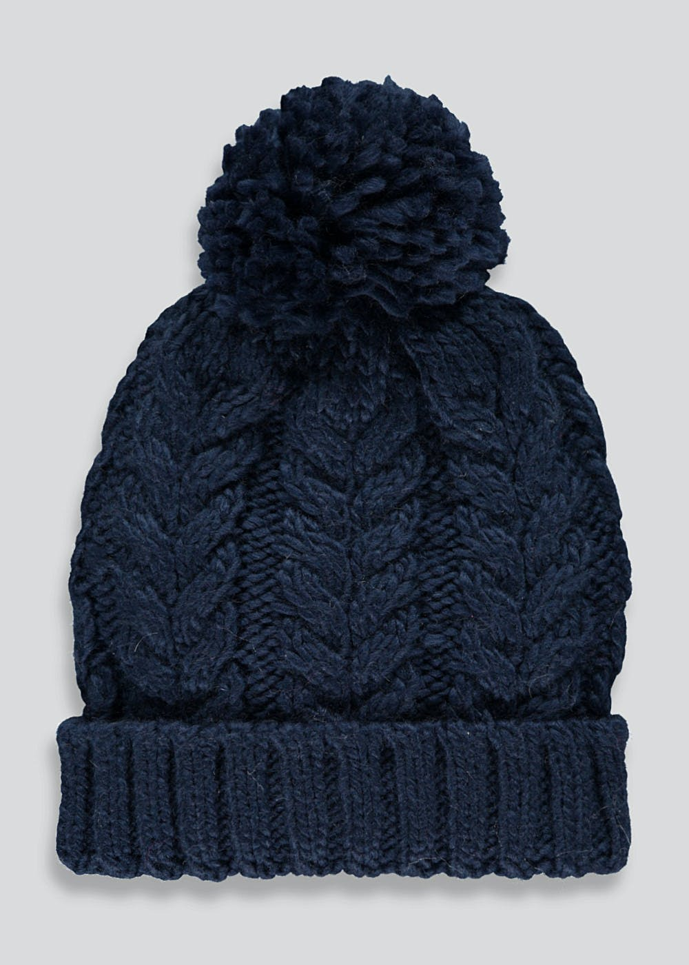 Boys Cable Bobble Hat (7-13yrs) – Navy