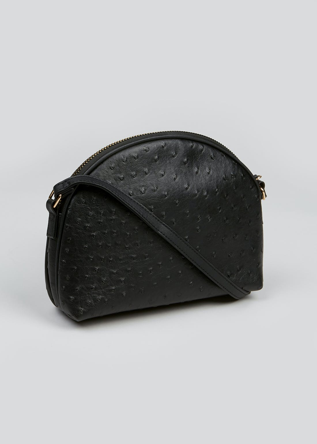 Faux Ostrich Leather Cross-Body Bag