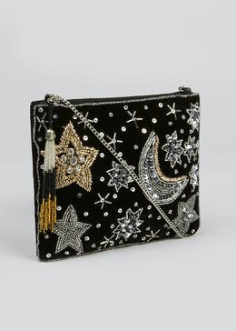 Stars & Moon Beaded Bag