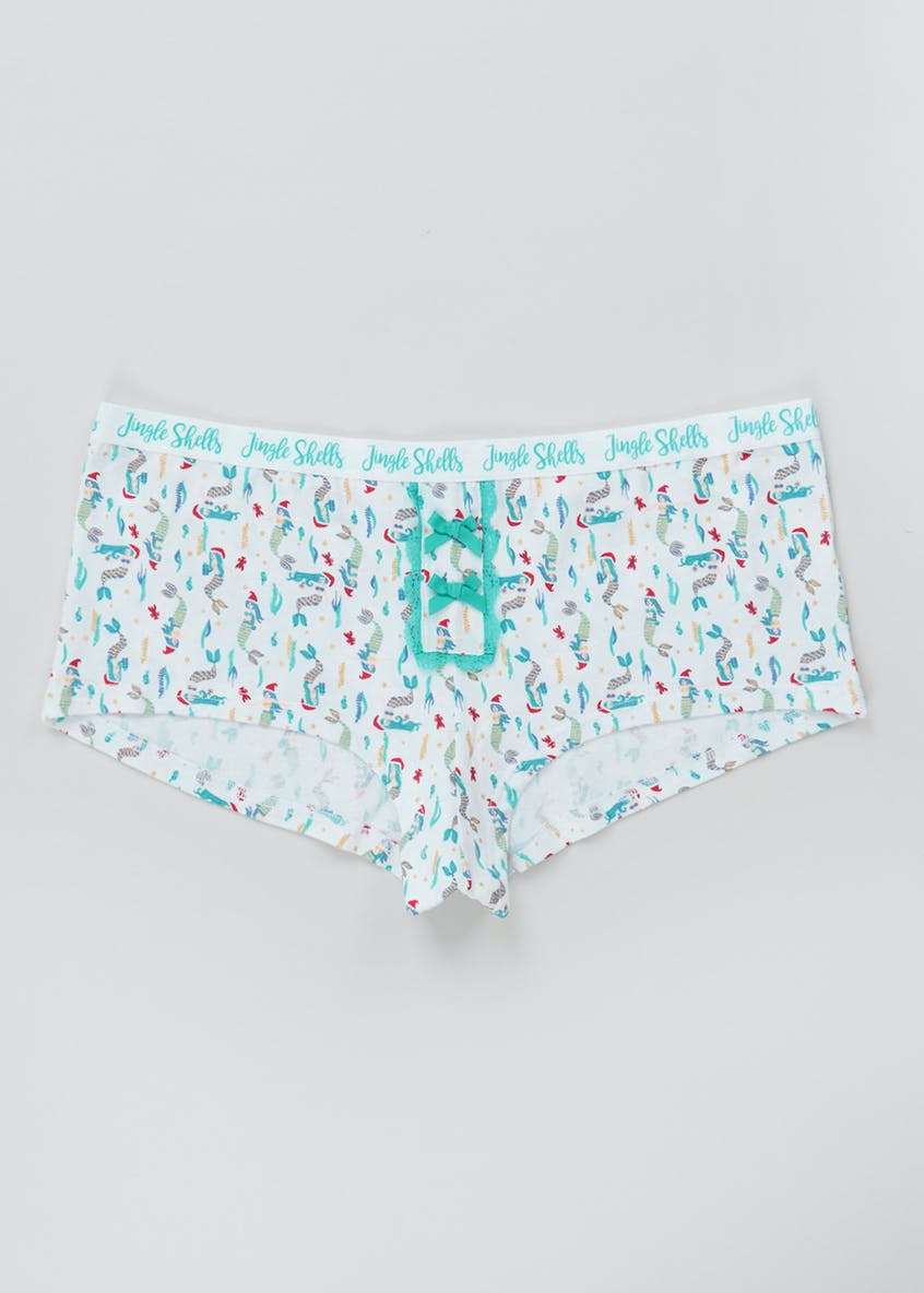 Jingle Shells Mermaid Boxer Knickers