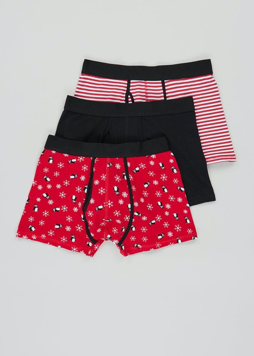 3 Pack Christmas Novelty Boxers
