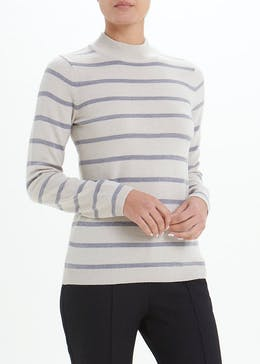 Papaya Petite Stripe Turtle Neck Jumper