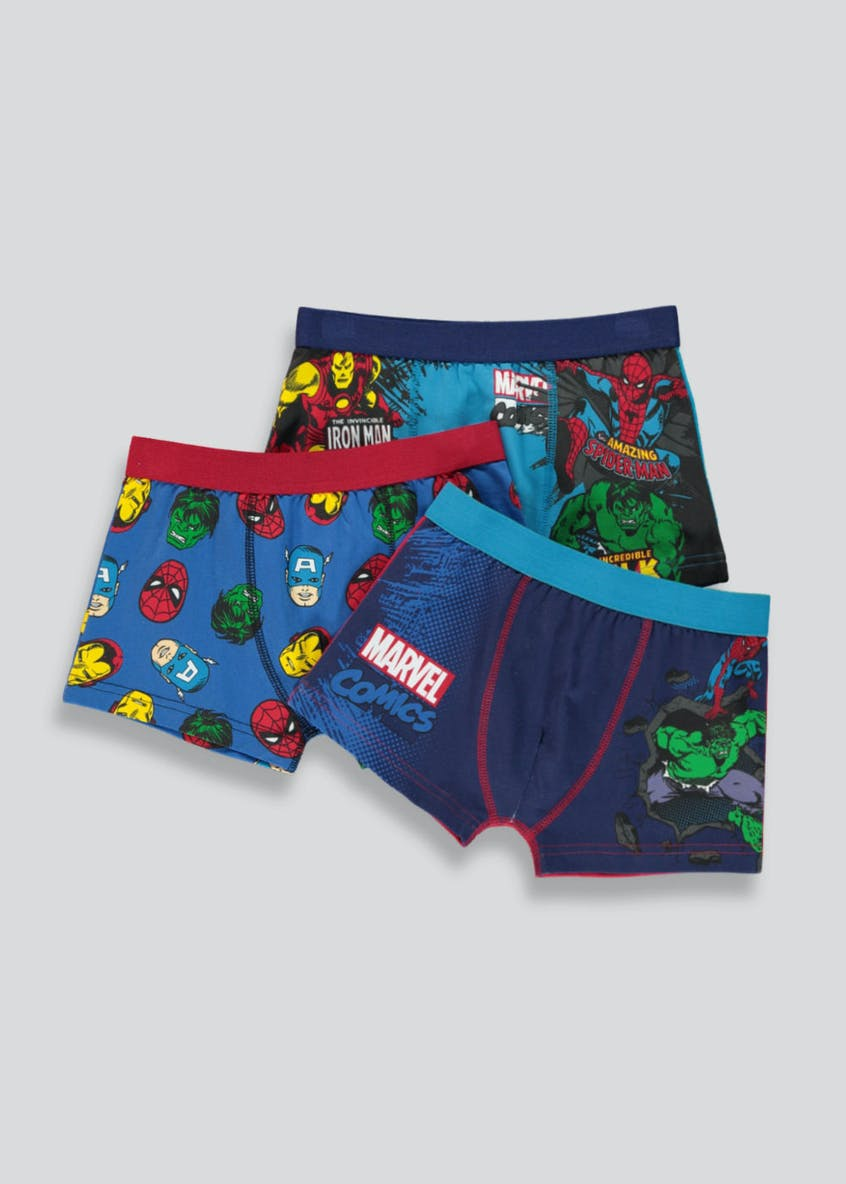 Boys 3 Pack Marvel Comics Trunks (2-9yrs)