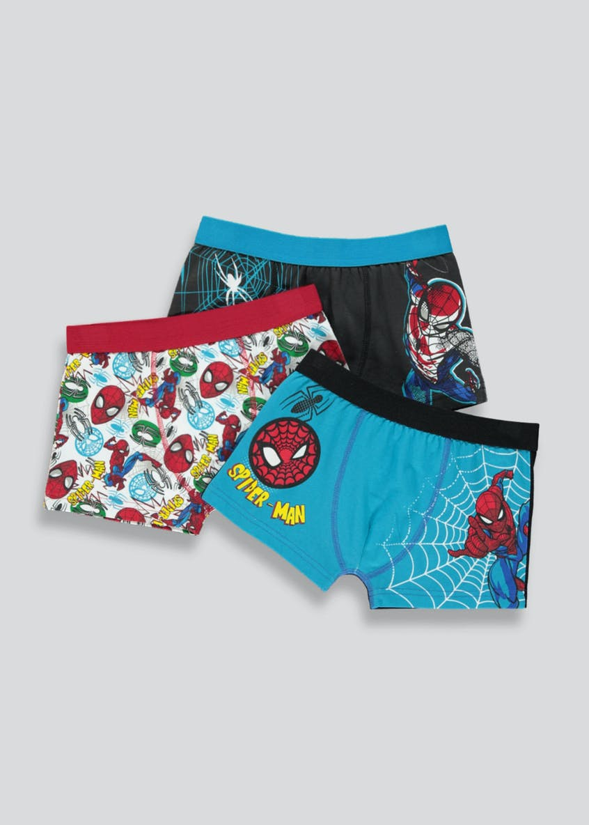 Boys 3 Pack Spiderman Trunks (2-9yrs)