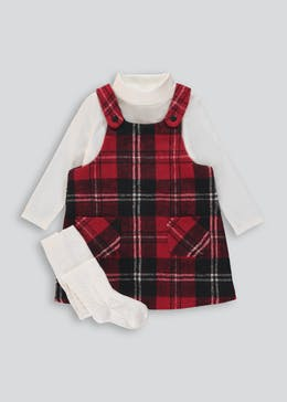 Girls Check Pinafore & Top Set (9mths-6yrs)