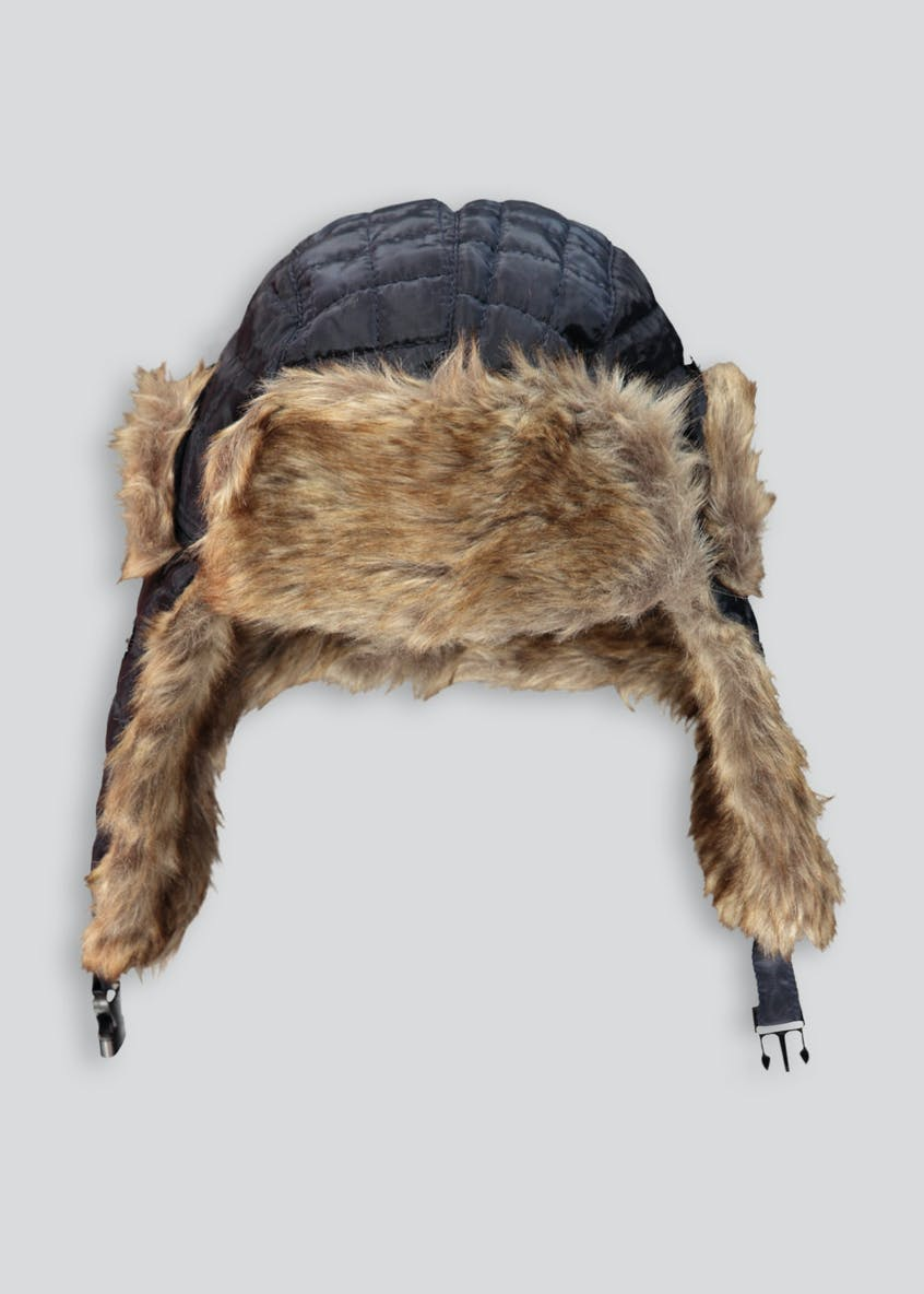 Boys Quilted Fur Lined Trapper Hat (3-6yrs)