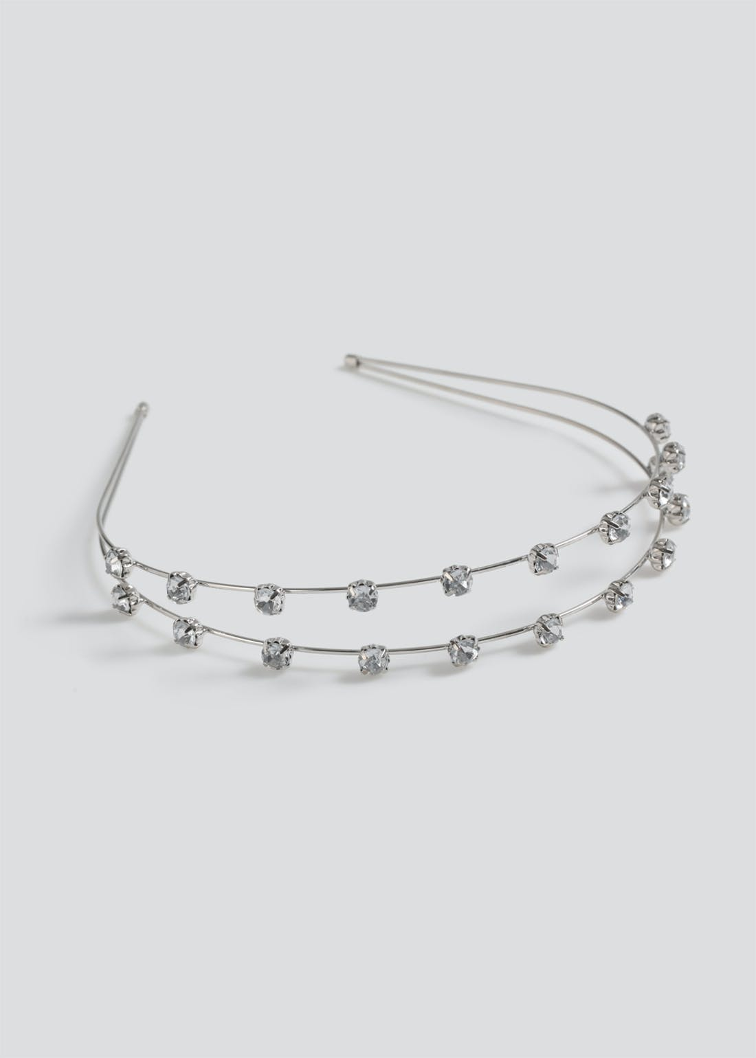 Double Row Diamante Headband