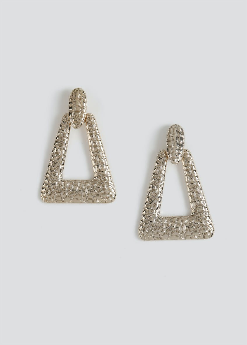 Croc Metal Door Knocker Earrings