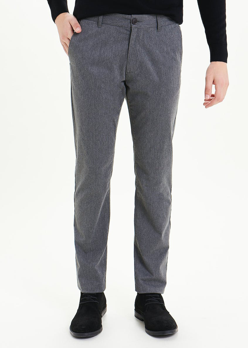 Straight Fit Marl Chinos