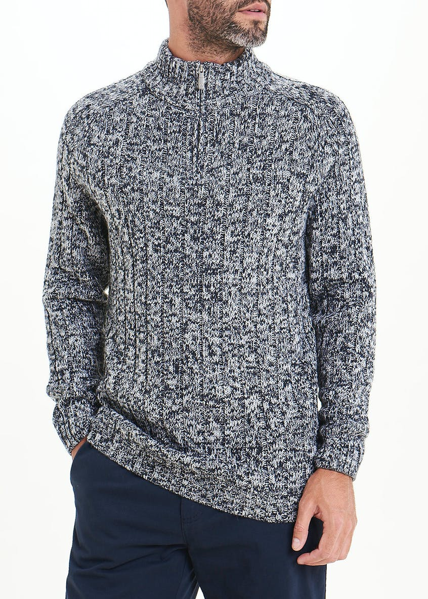 Lincoln Chunky Ribbed Half Zip Jumper