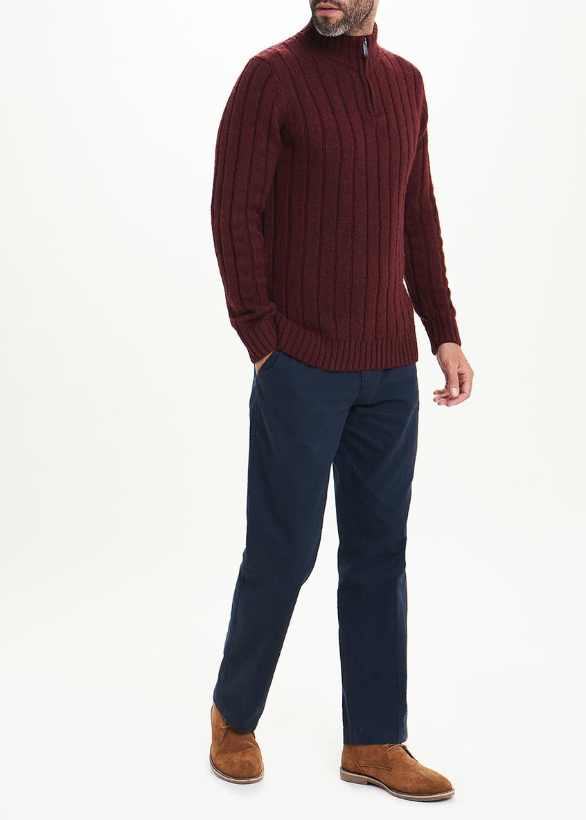Lincoln Chunky Half Zip Sweater