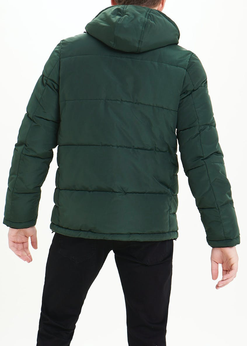 Green Padded Panel Jacket