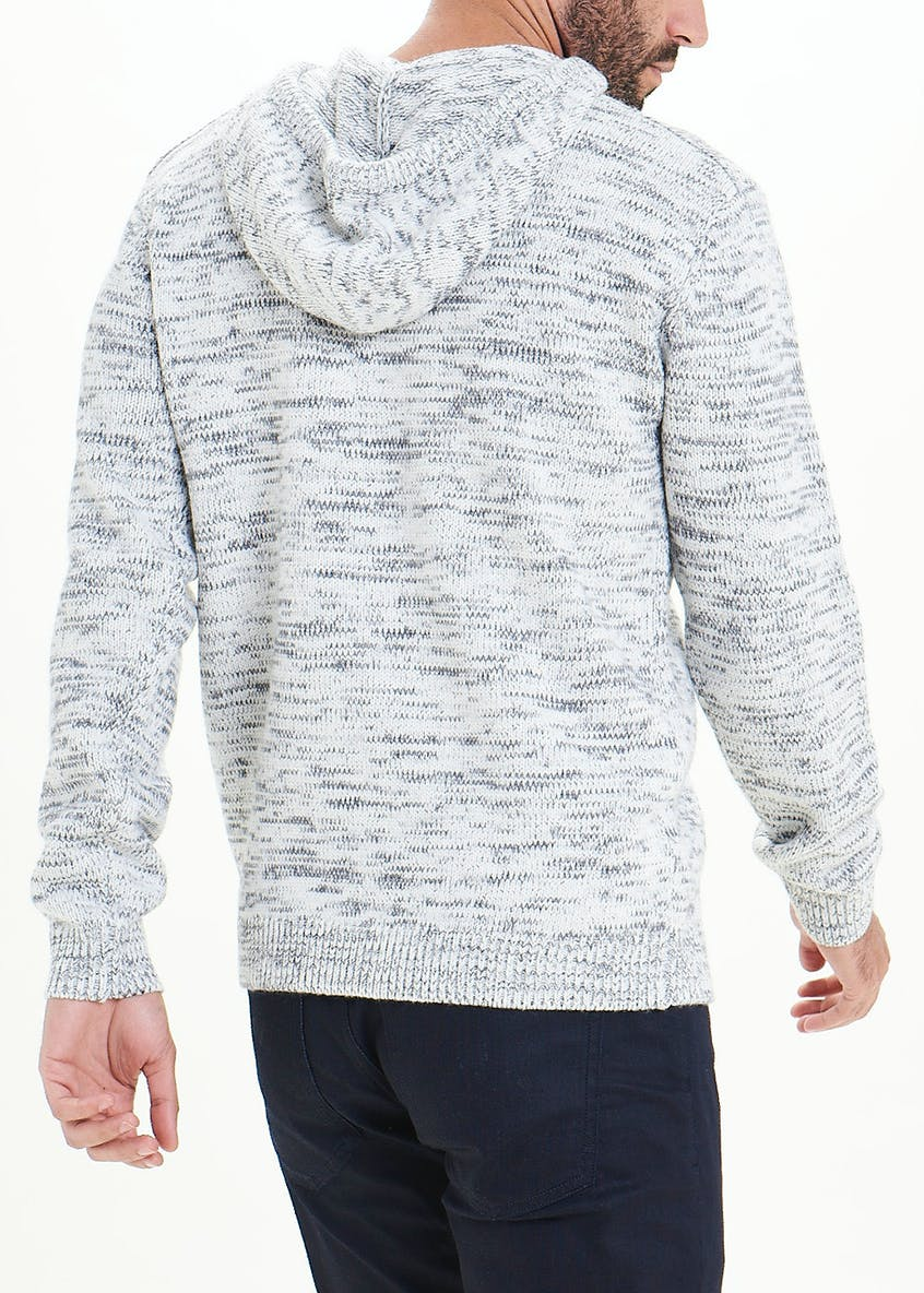 Chunky Knit Pull On Hoodie
