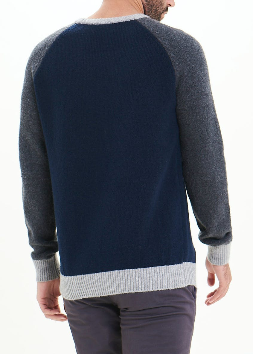 Contrast Crew Neck Jumper
