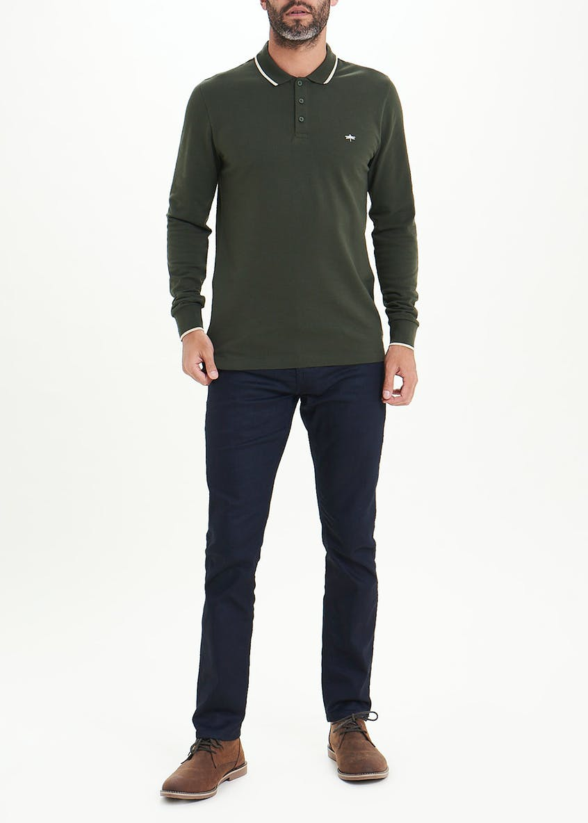 Long Sleeve Pique Polo Shirt