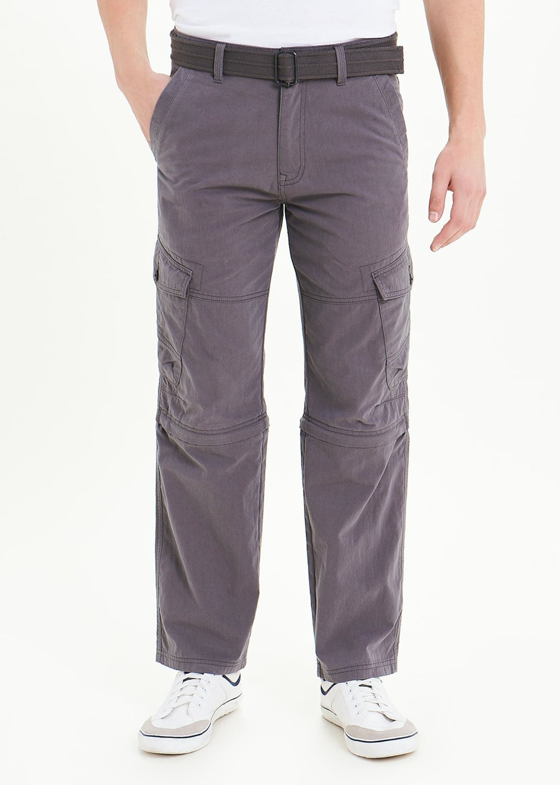 Belted Zip-Off Cargo Trousers