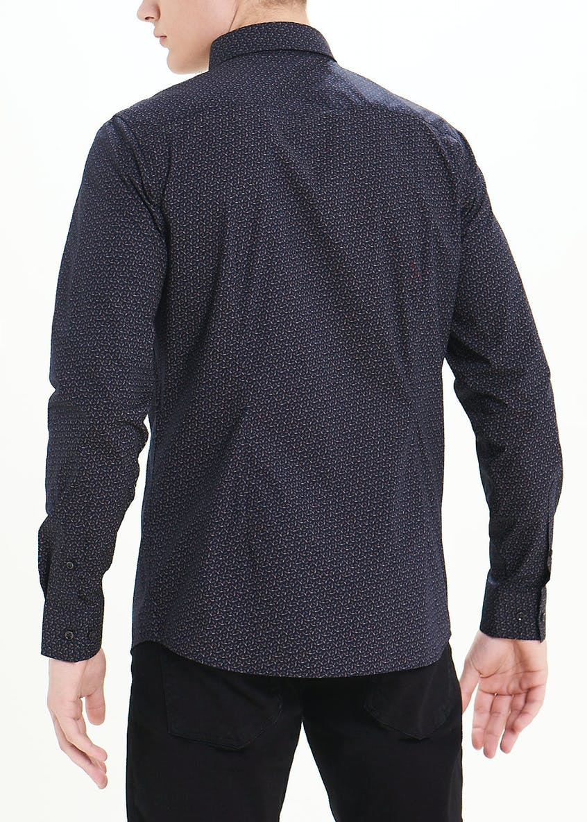 Easy Black Label Slim Fit Long Sleeve Shirt
