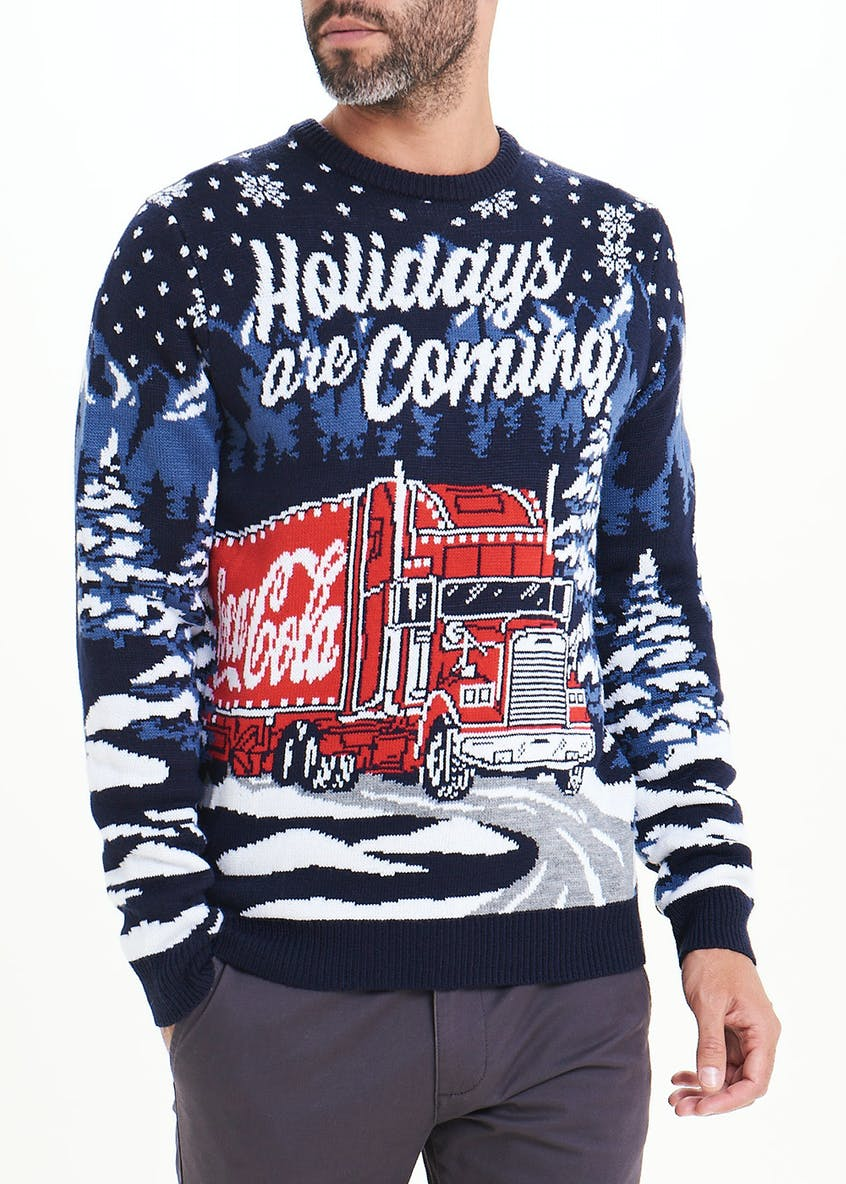 Coca Cola Holidays Are Coming Christmas Jumper