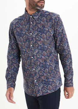 Easy Black Label Slim Fit Paisley Print Shirt