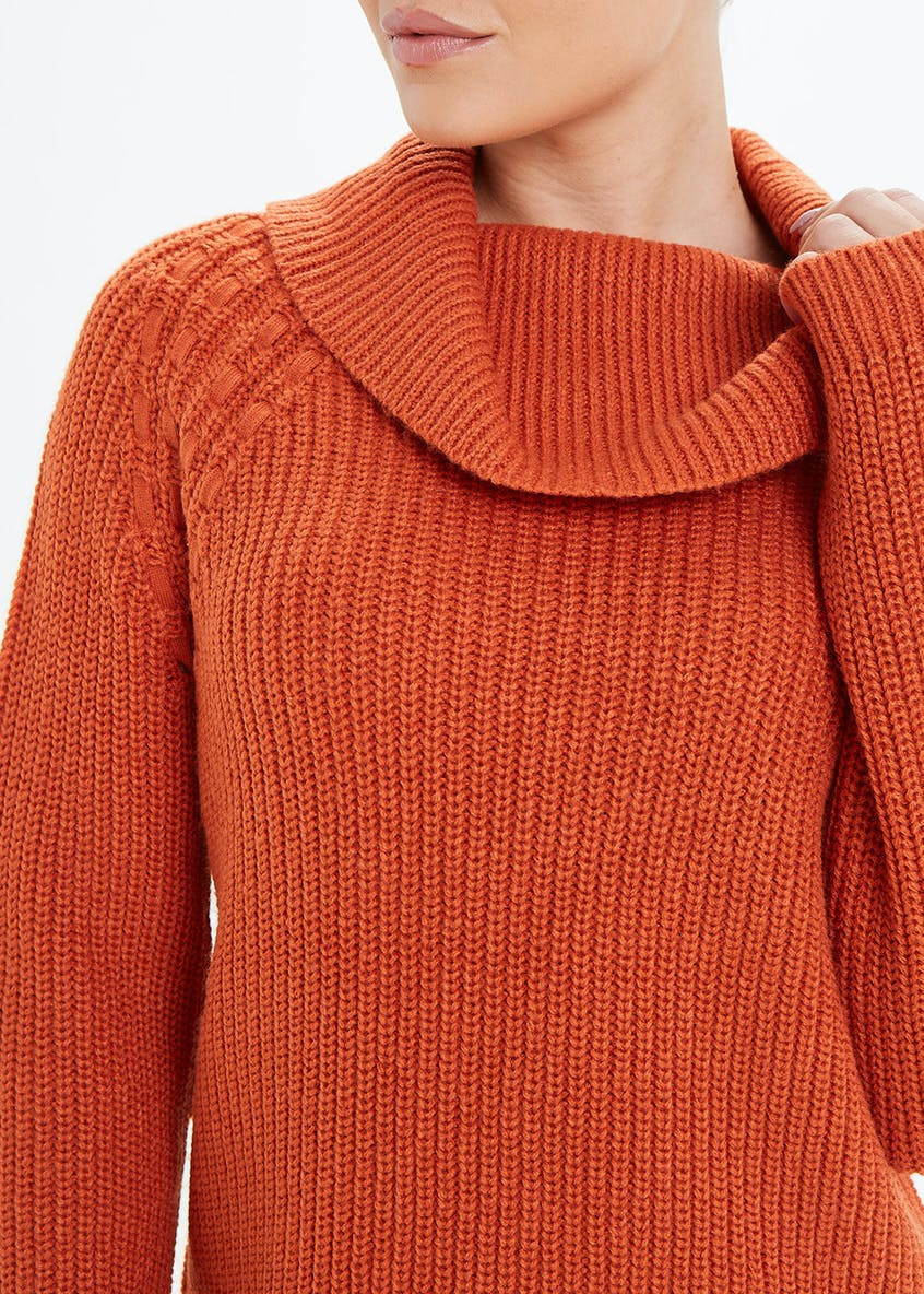 Slouch Cowl Neck Jumper