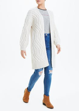Falmer Chunky Cable Knit Cardigan
