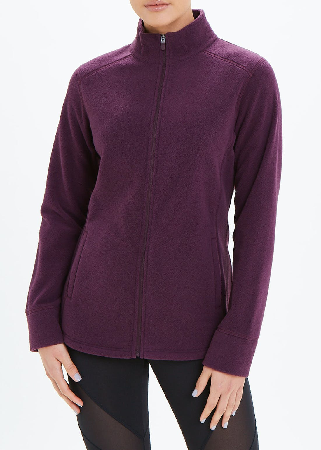 Souluxe Plum Zip Through Fleece