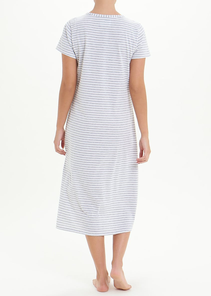Stripe Classic Button Nightie