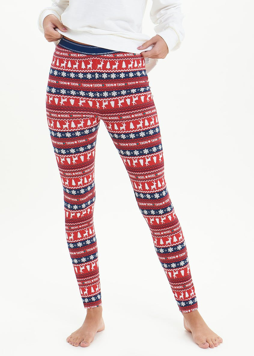 Fair Isle Christmas Loungewear Leggings