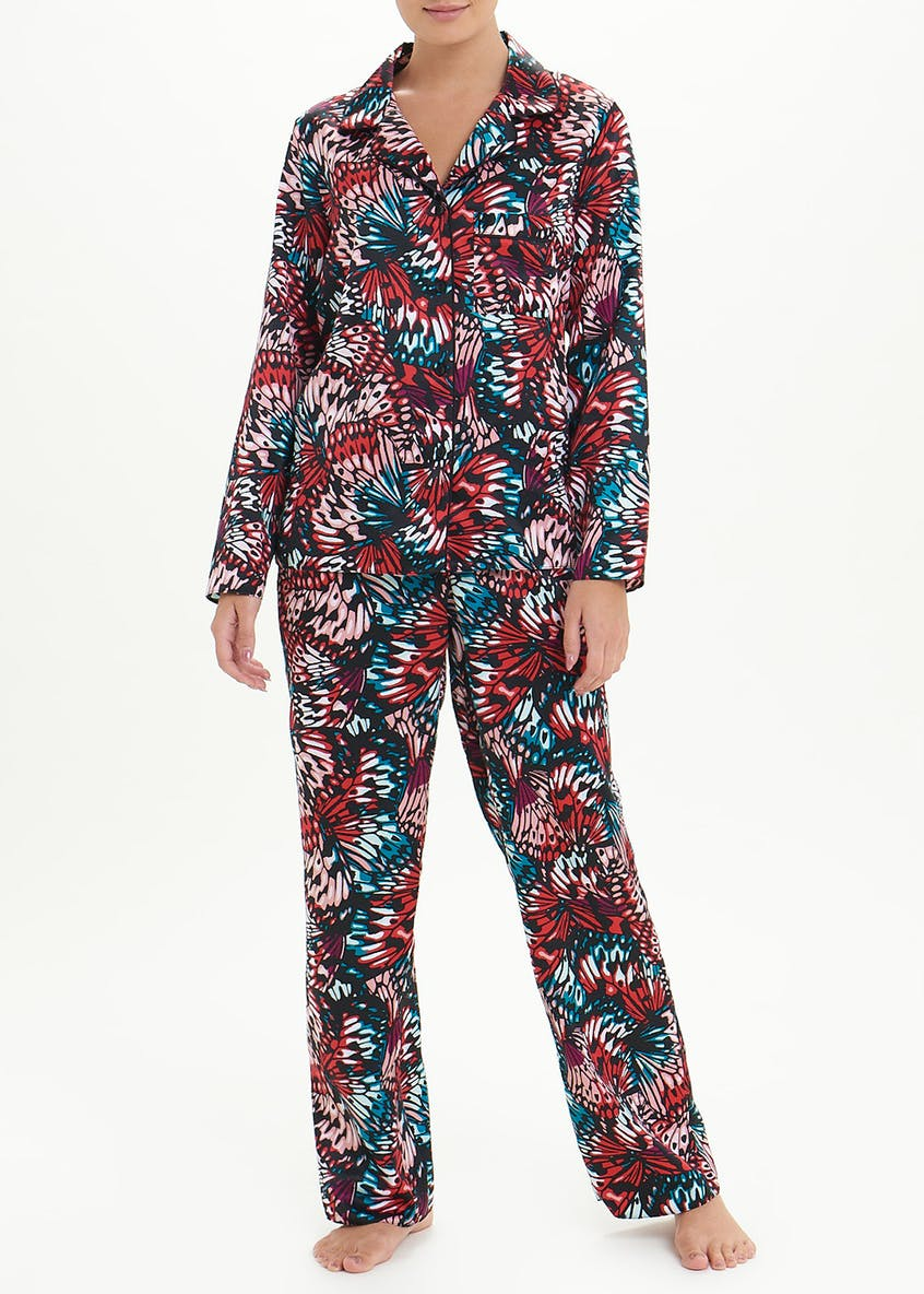 Satin Butterfly Pyjama Set