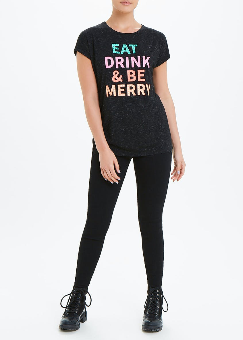 Eat Drink & Be Merry Christmas T-Shirt