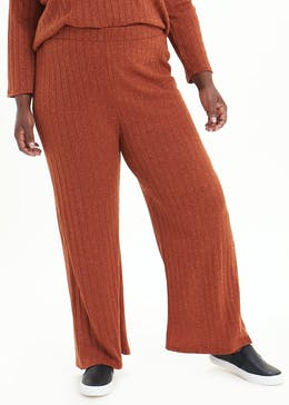 Papaya Curve Wide Leg Co-Ord Trousers