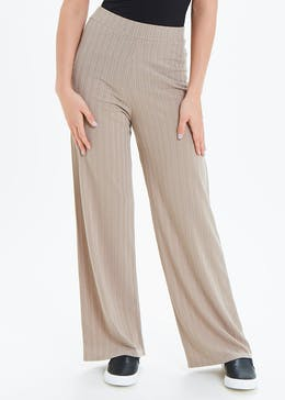 Ribbed Wide Leg Co-Ord Trousers