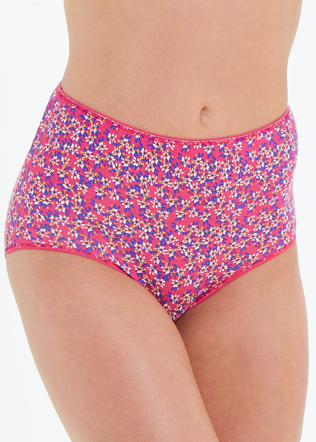 5 Pack Floral Print Full Knickers