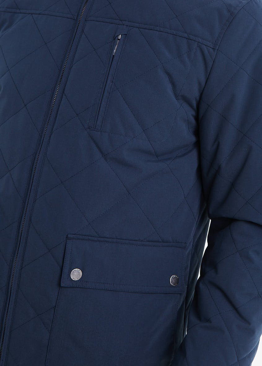 Lincoln Navy Quilted Jacket