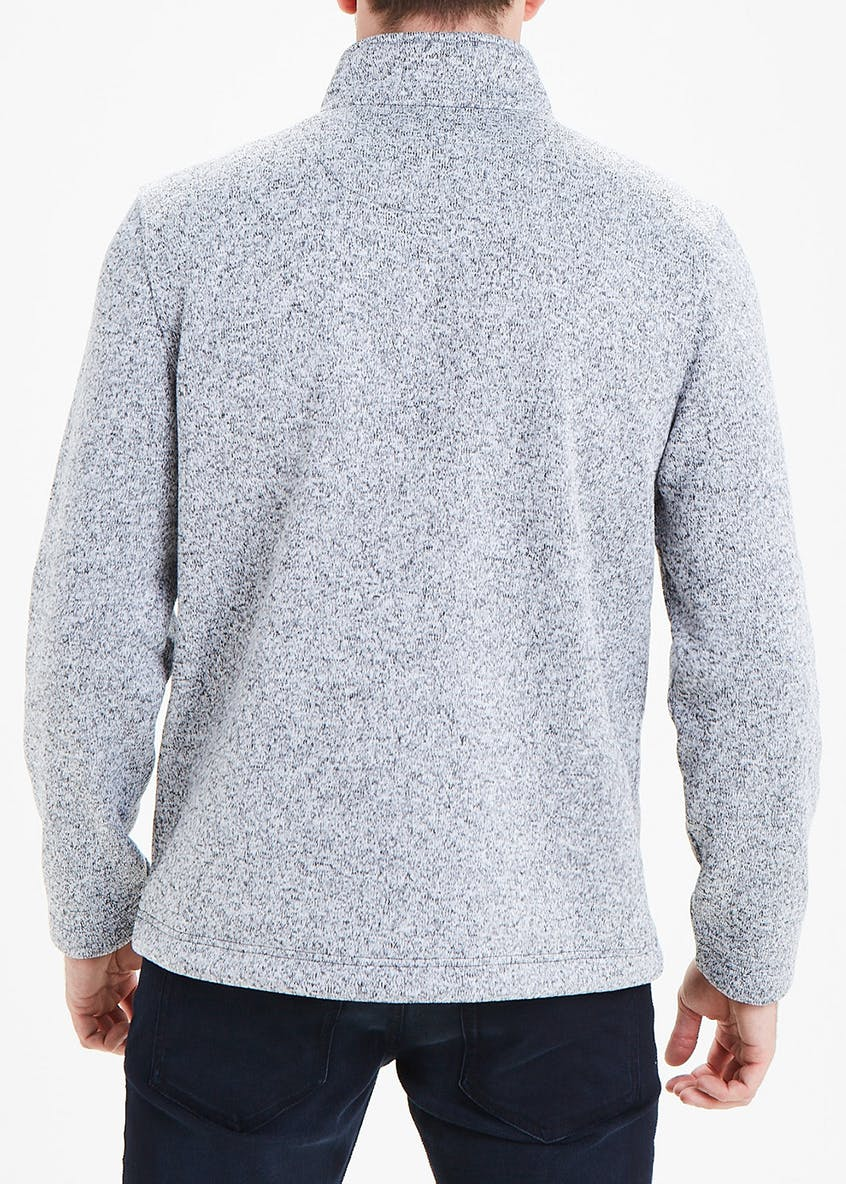 Lincoln Grey Knitted Fleece