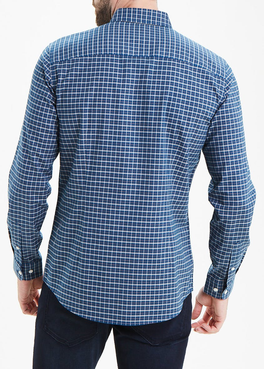 Slim Fit Check Long Sleeve Oxford Shirt