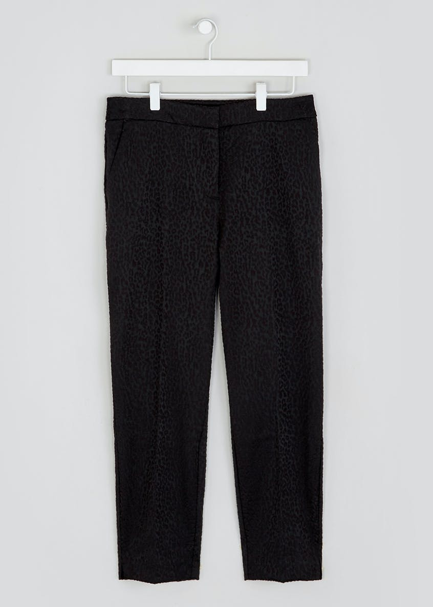 Soon Leopard Jacquard Tailored Trousers