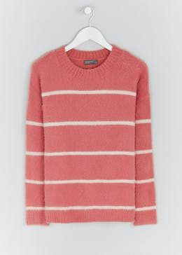 Papaya Petite Fluffy Striped Jumper
