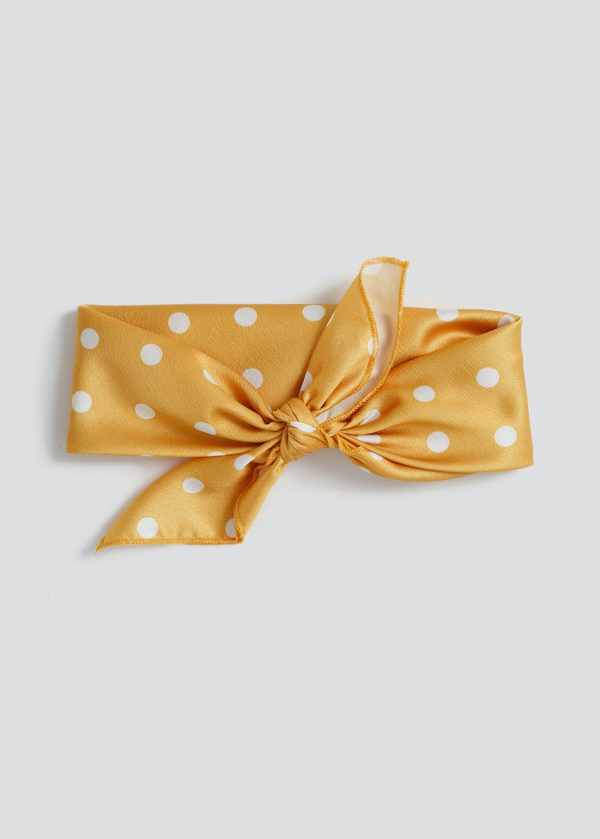 Polka Dot Tie Up Hair Scarf