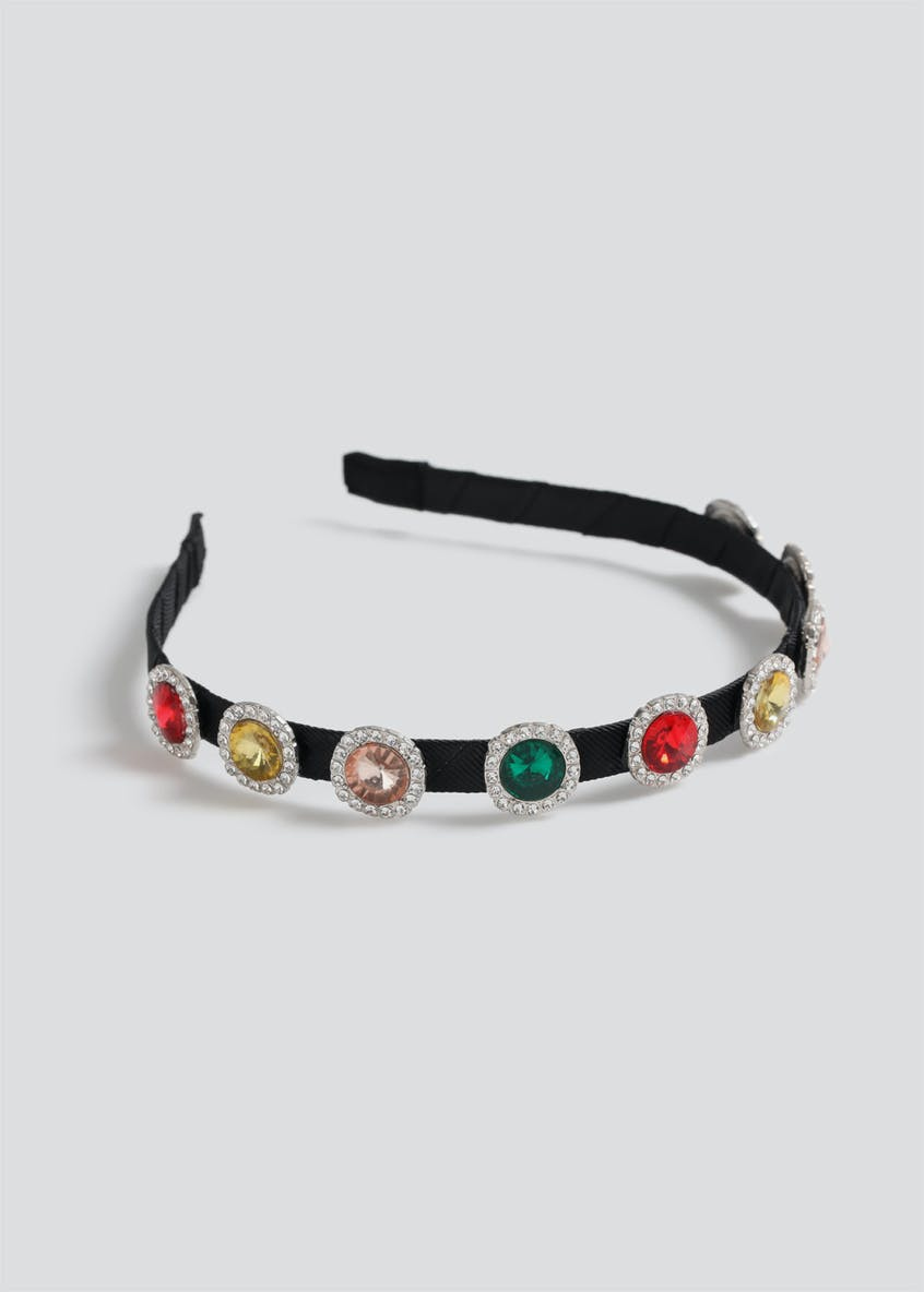 Statement Multi Gem Headband.
