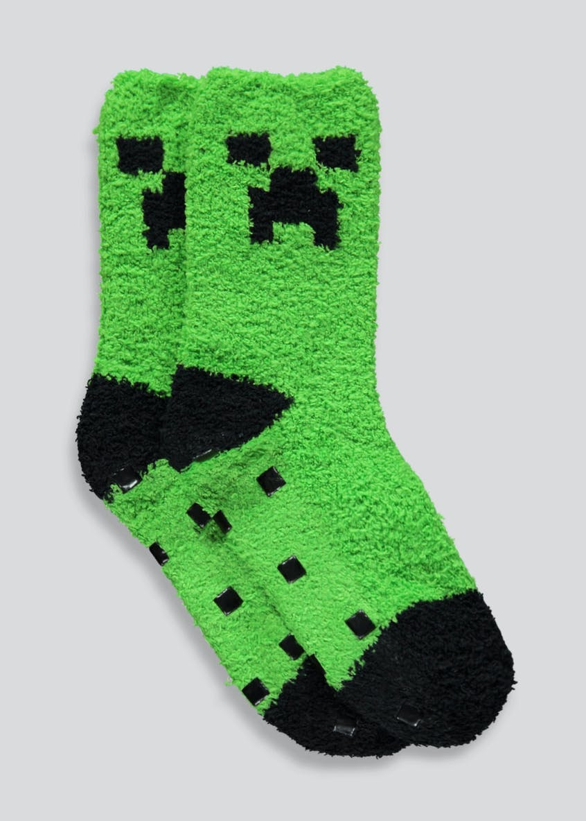 Kids Minecraft Slipper Socks (Younger 9-Older 6.5)