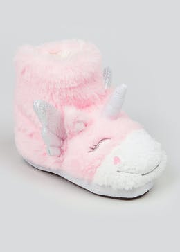 Girls Unicorn Slipper Boots (Younger 4-12)