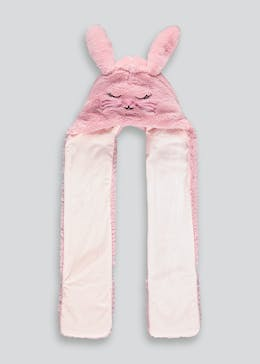 Girls Bunny Hooded Scarf (One Size)