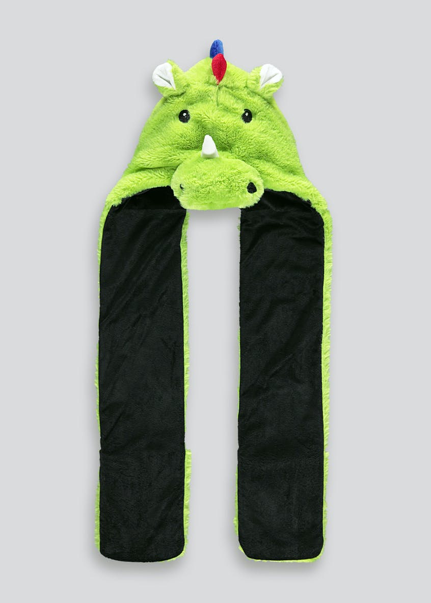 Kids Dinosaur Hooded Scarf (One Size)