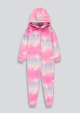 Girls Ombre Unicorn Onesie (4-13yrs)