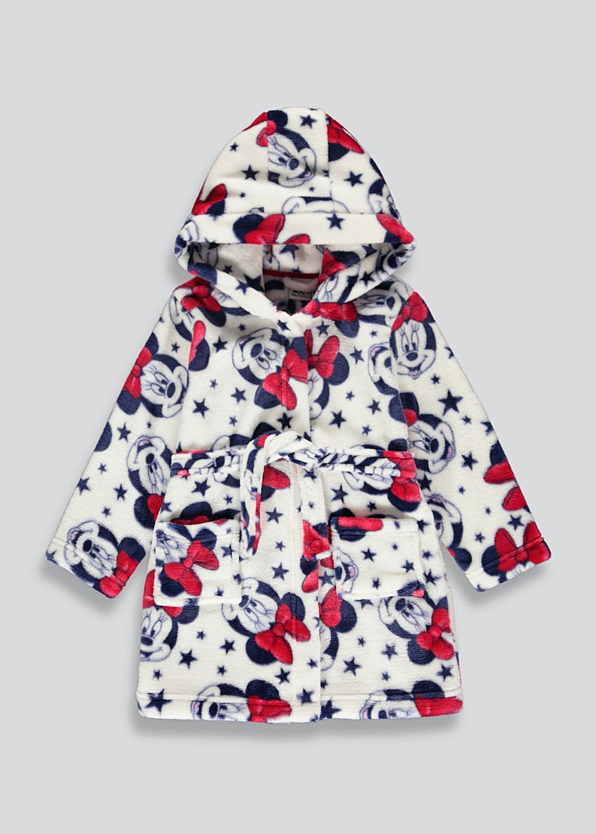 Kids Minnie Mouse Dressing Gown (3mths-6yrs)