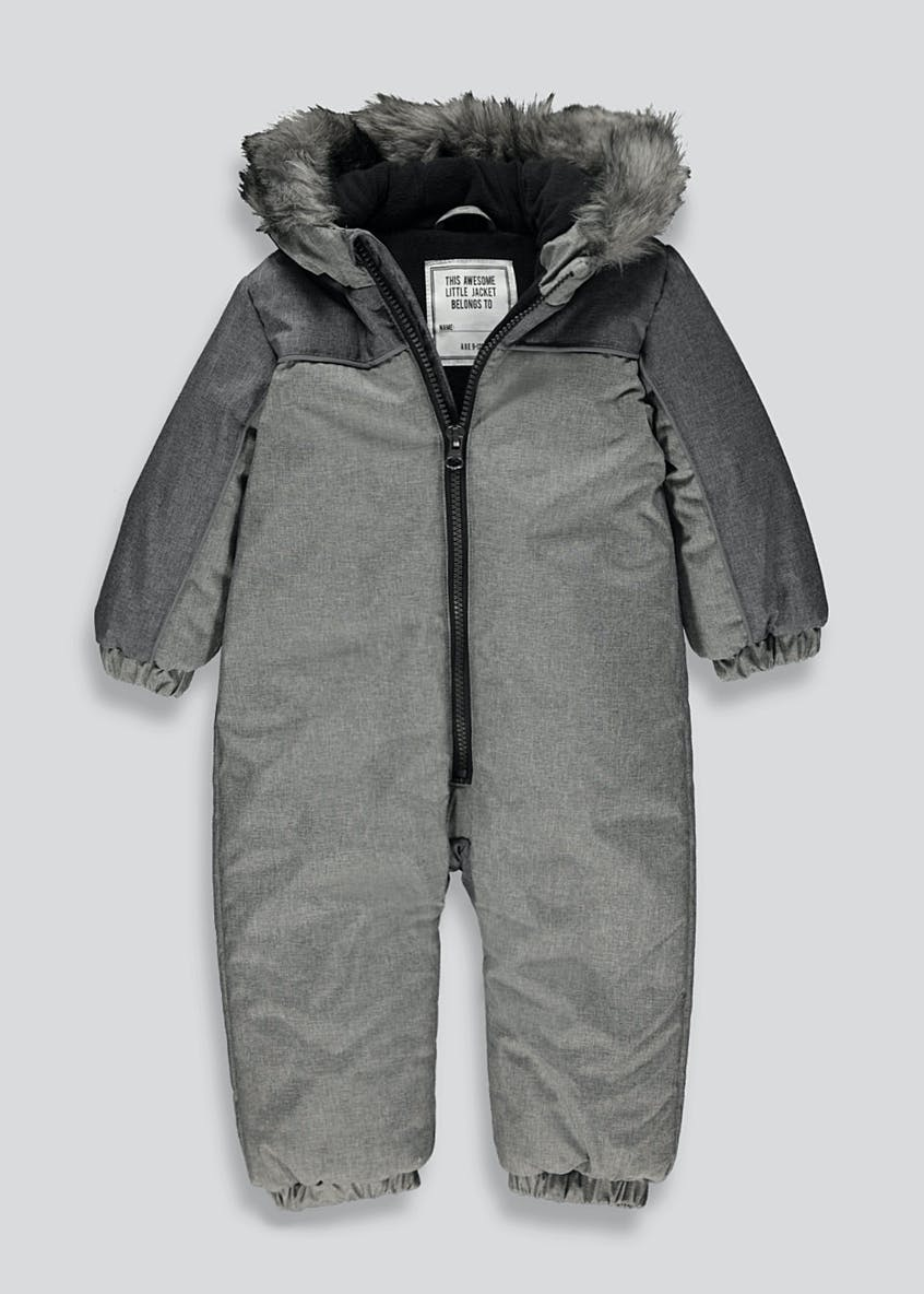 Unisex Grey All-In-One Snowsuit (9mths-6yrs)